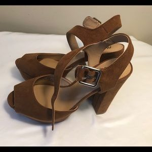 Mossimo New Open Toe Heels Sandals Size 6.5